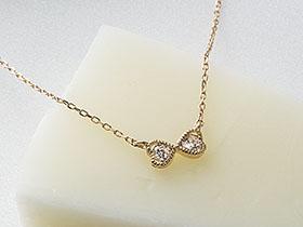 K10YGダイヤネックレス